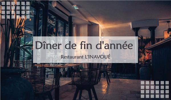 Dîner de fin d'année de la CPFAC au restaurant l'Inavoué